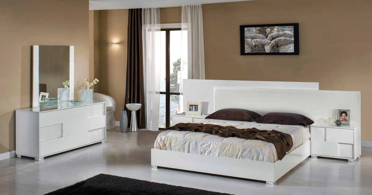 Italian modern bedroom furniture Contemporary Gallery Image Gallery Image 153 Sl0tgamesclub Modrest Monza Italian Modern White Bedroom Set