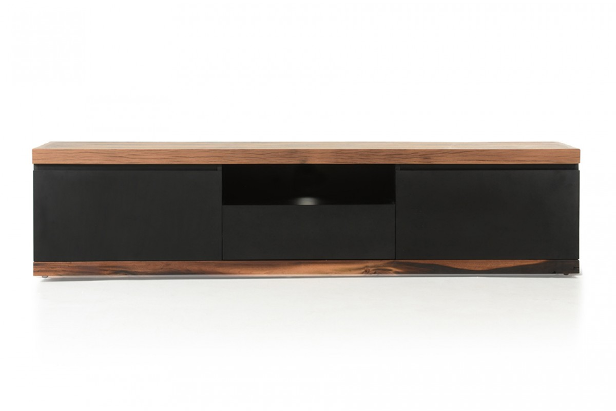 Modrest norse modern black wood tv stand entertainment