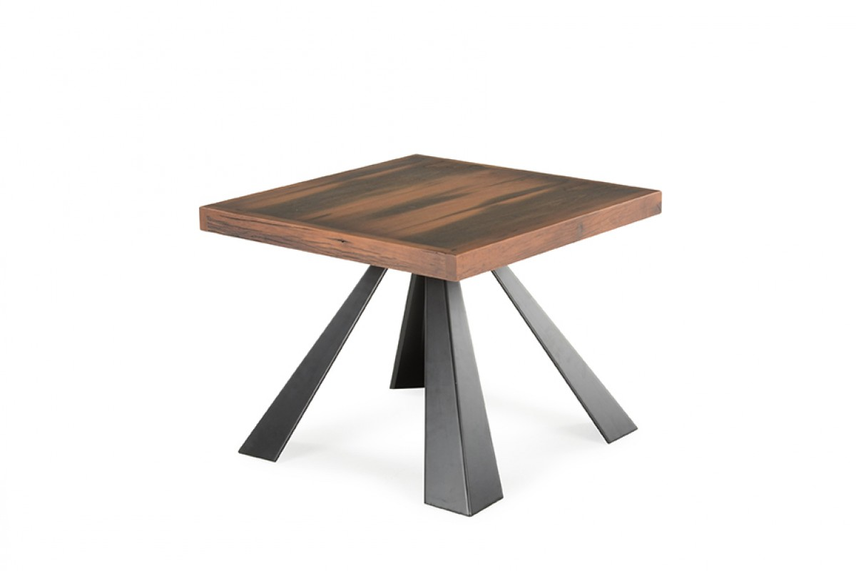 Modern Wood Side Table ~ Modrest norse modern wood end table tables living room