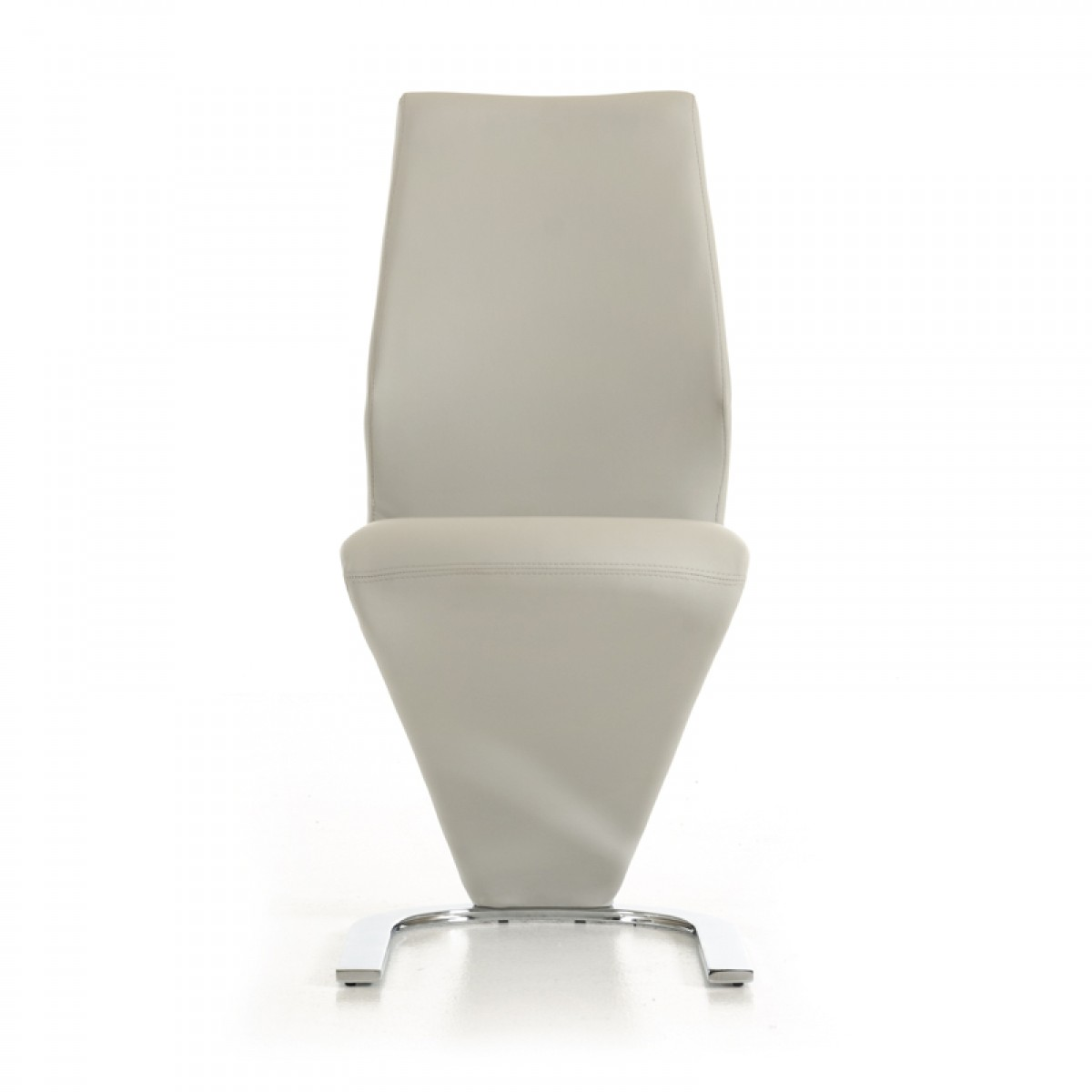 Penn Modern Light Grey Leatherette Dining Chair Set Of