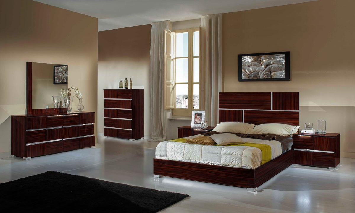 modrest picasso italian modern ebony lacquer bed modern. Black Bedroom Furniture Sets. Home Design Ideas