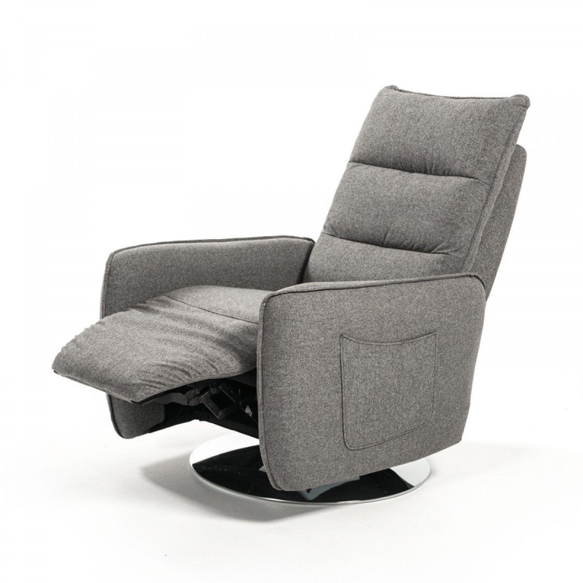 Divani Casa Manitoba Modern Grey Leather Electric Recliner Chair  sc 1 st  VIG Furniture & Divani Casa Fairfax Modern Grey Fabric Recliner Chair - Reclining ... islam-shia.org