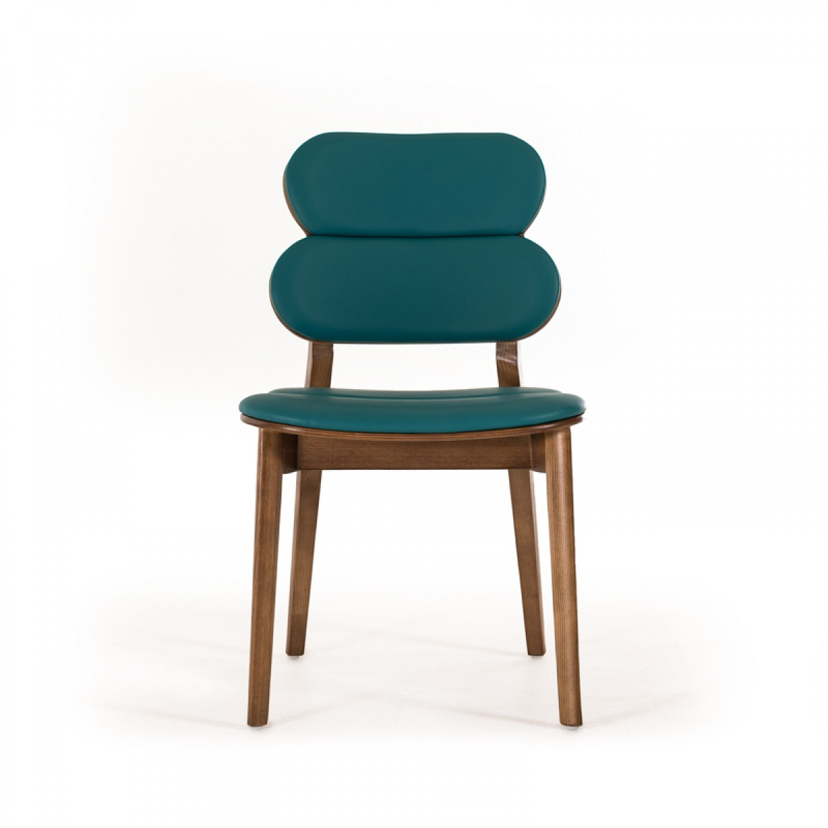 Raeanne Modern Turquoise Amp Walnut Dining Chair Set Of 2