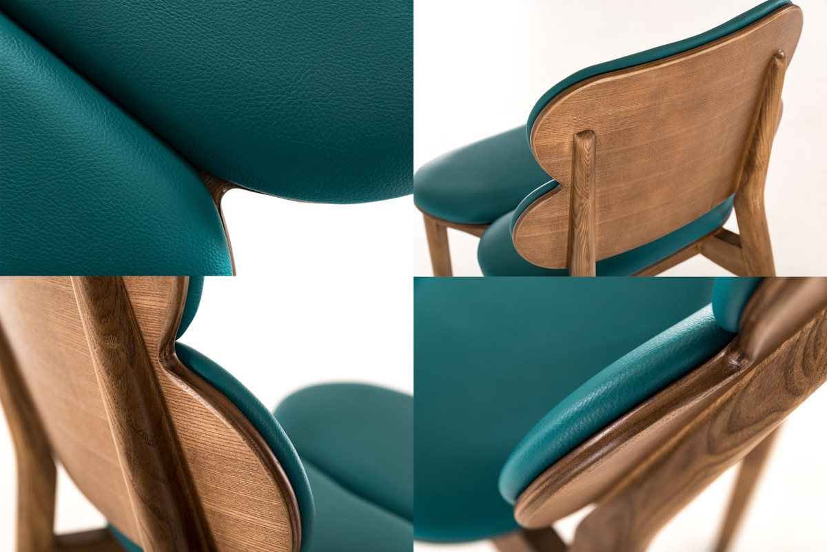 Raeanne Modern Turquoise Walnut Dining Chair Set Of 2 Room Clearance Specials