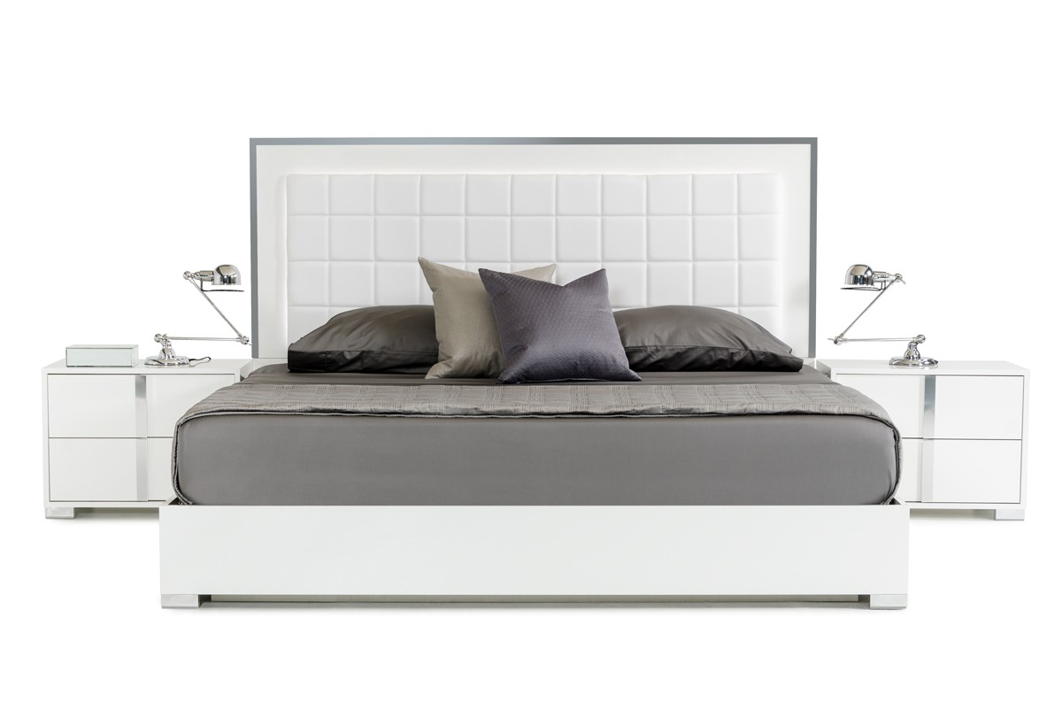 Modrest San Marino Modern White Bedroom Set Modrest Made In Italy Collections