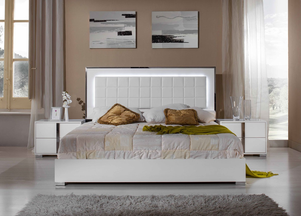 Modrest san marino modern white bedroom set - Contemporary modern bedroom sets ...