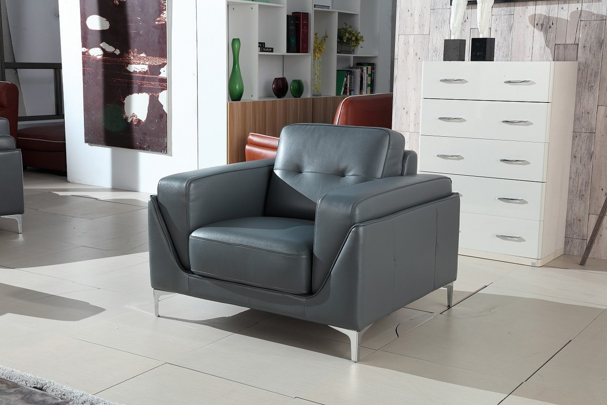 Gray leather sofa grey sectional sofa high point for Black and grey sofa set