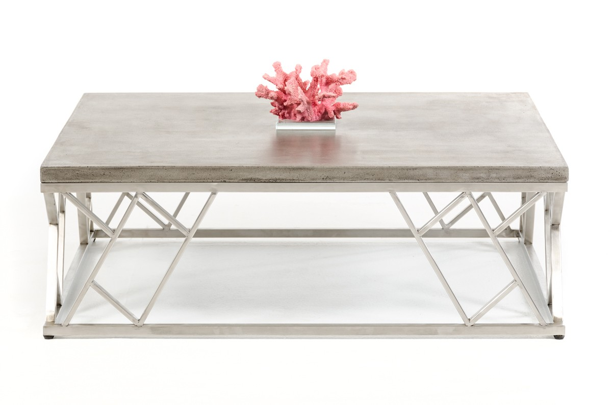 Modrest Scape Modern Concrete Coffee Table Coffee Tables