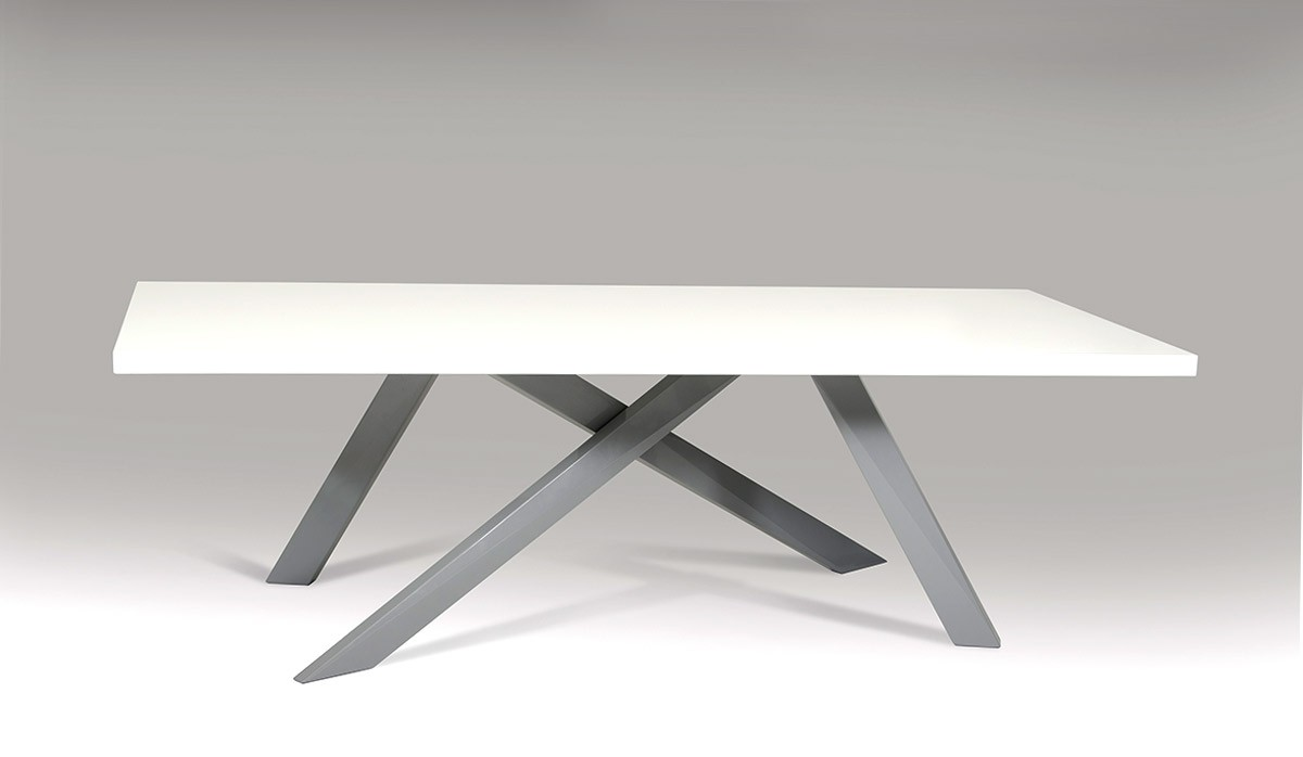 Modrest Vanguard Modern Small White And Grey Dining