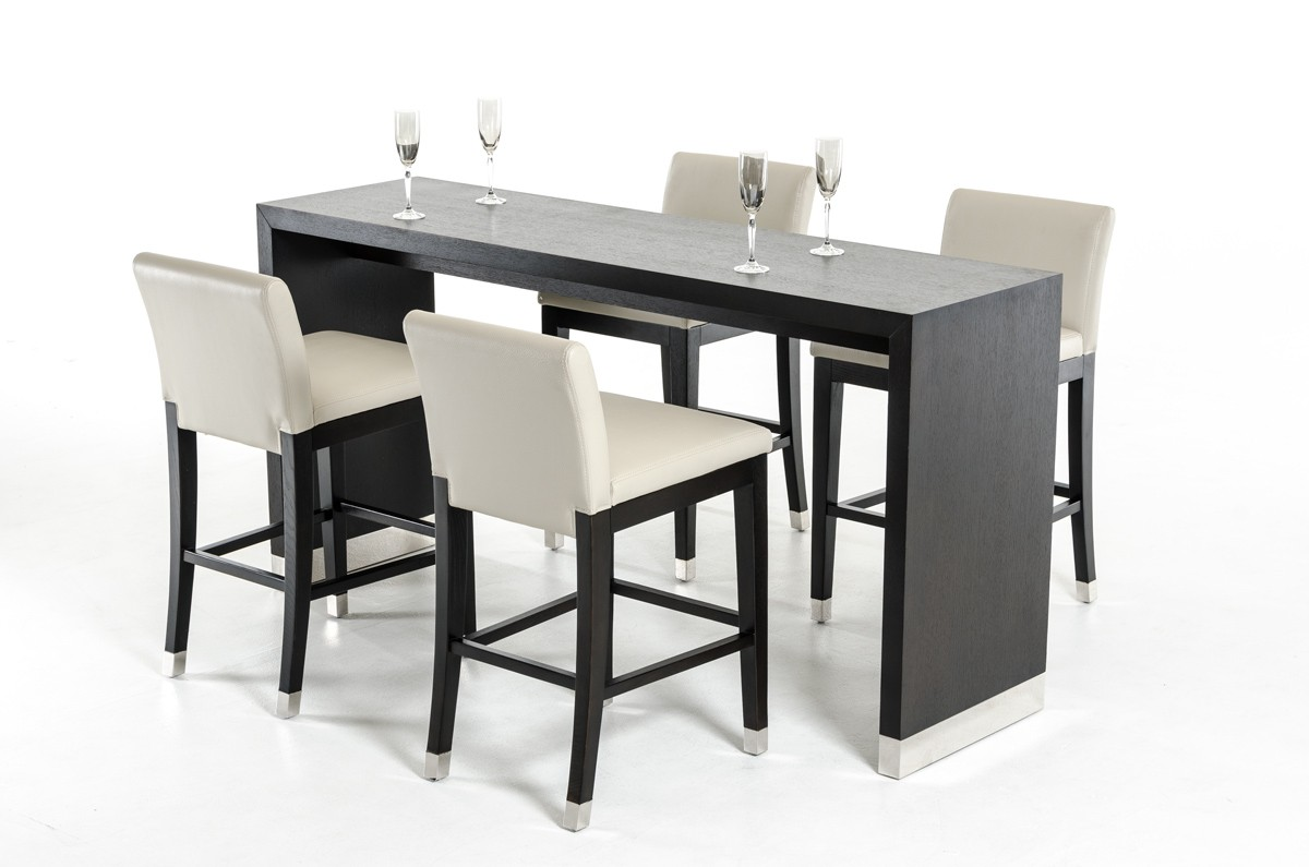 Modrest Silas Modern Wenge Wood Bar Table Bar Dining