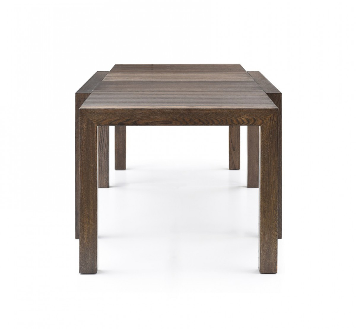 Modrest galant modern grey oak extendable dining table for Modern oak dining table