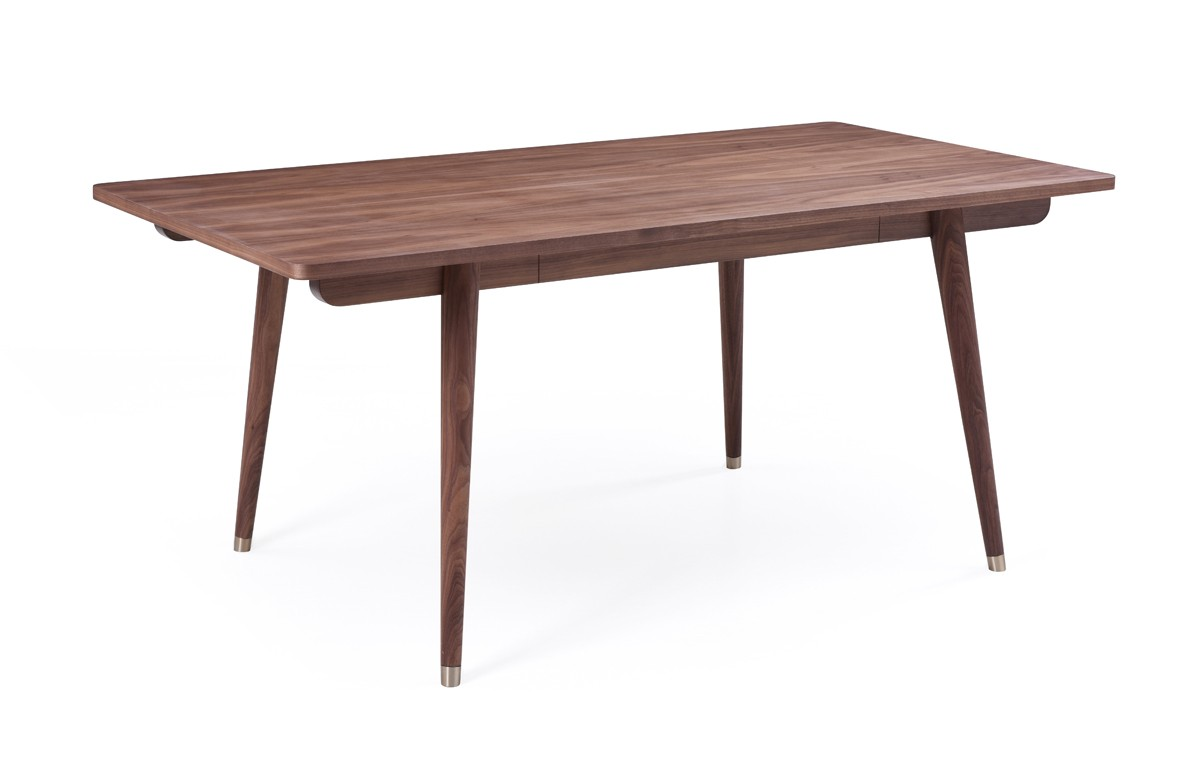 Modrest gloria modern walnut dining table modern dining for Modern dining t