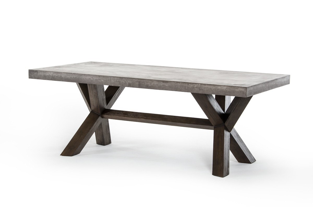 rectangle dining table modrest concrete rectangular dining table modern 1749