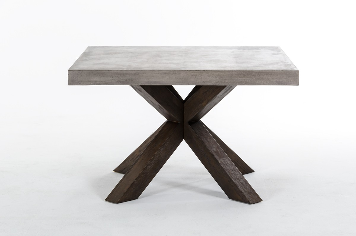 Modrest urban concrete square dining table for Square dining table designs