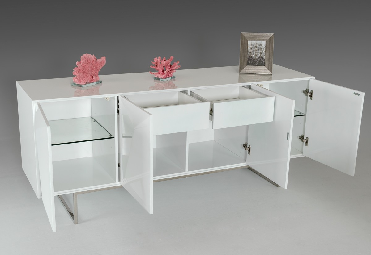 modrest vanguard  modern white buffet  buffets  dining -