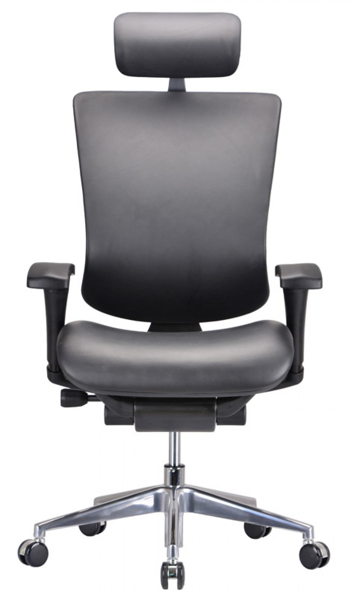 Modrest watson modern black leather office chair for Modern leather office chairs