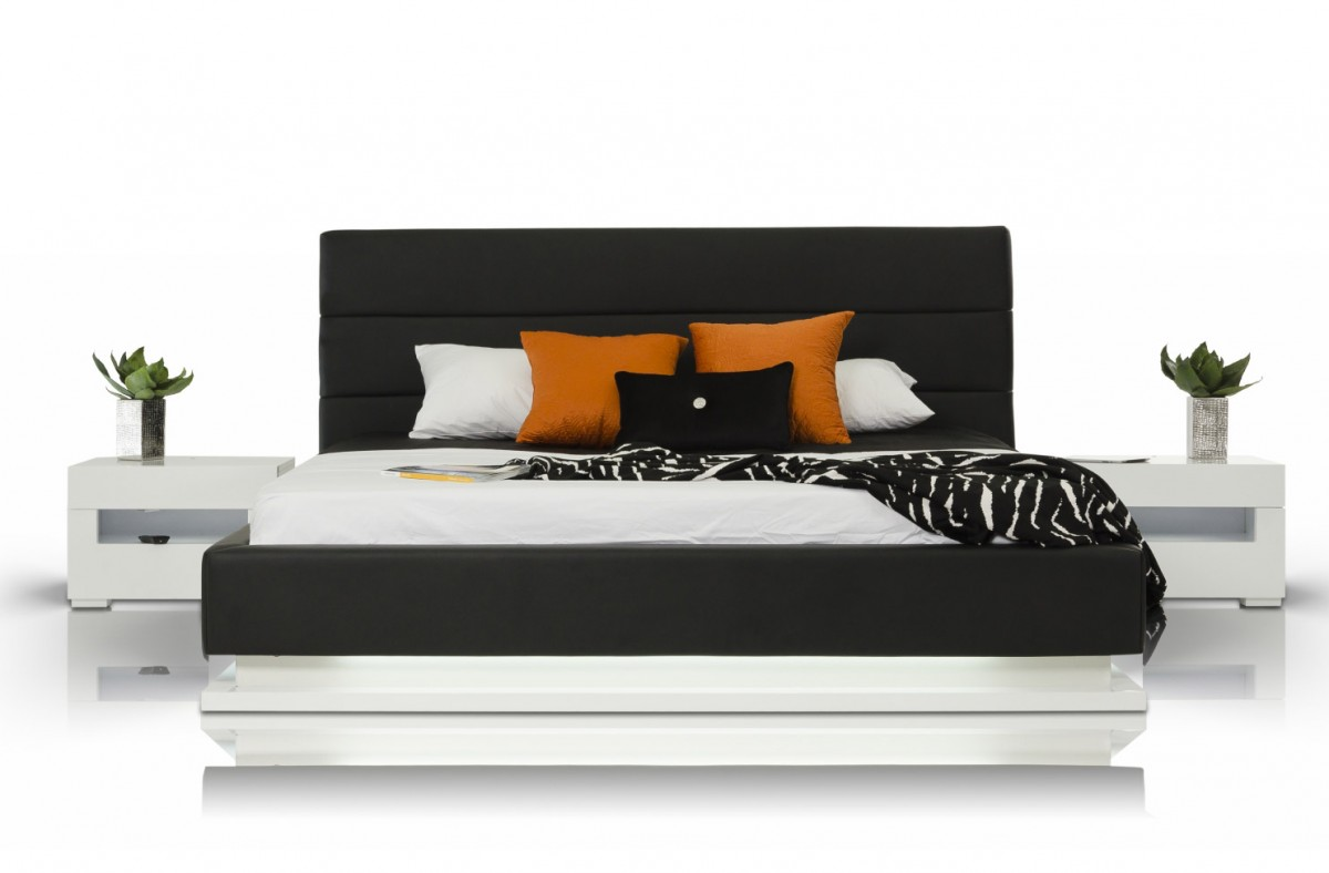 Modern beds with lights - Modrest Infinity Contemporary Platform Bed With Lights Modern Bedroom Bedroom
