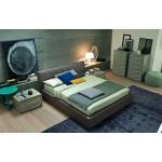 SMA Lido - Modern White Eco-Leather Bed