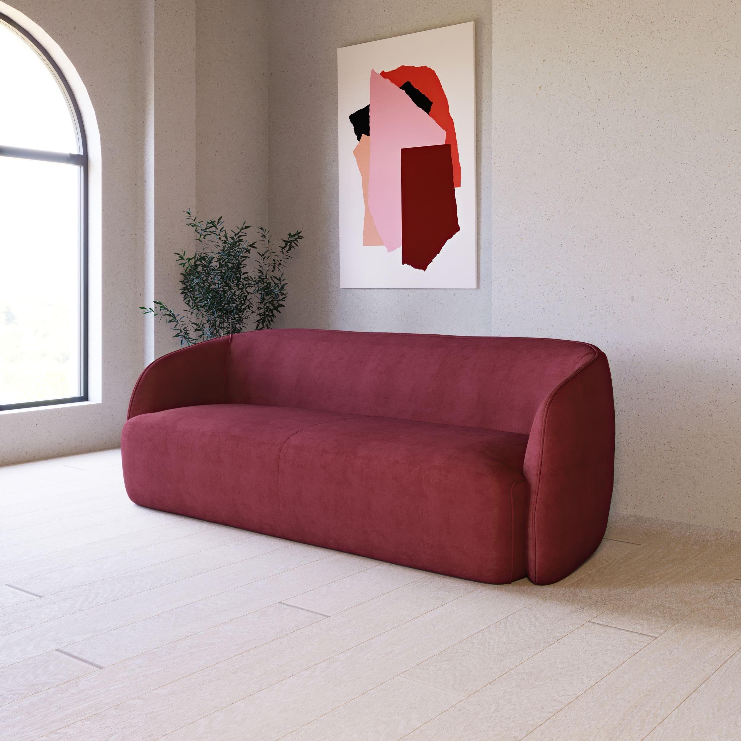 VIG Furniture Divani Casa Spruce Modern Red Velvet Sofa