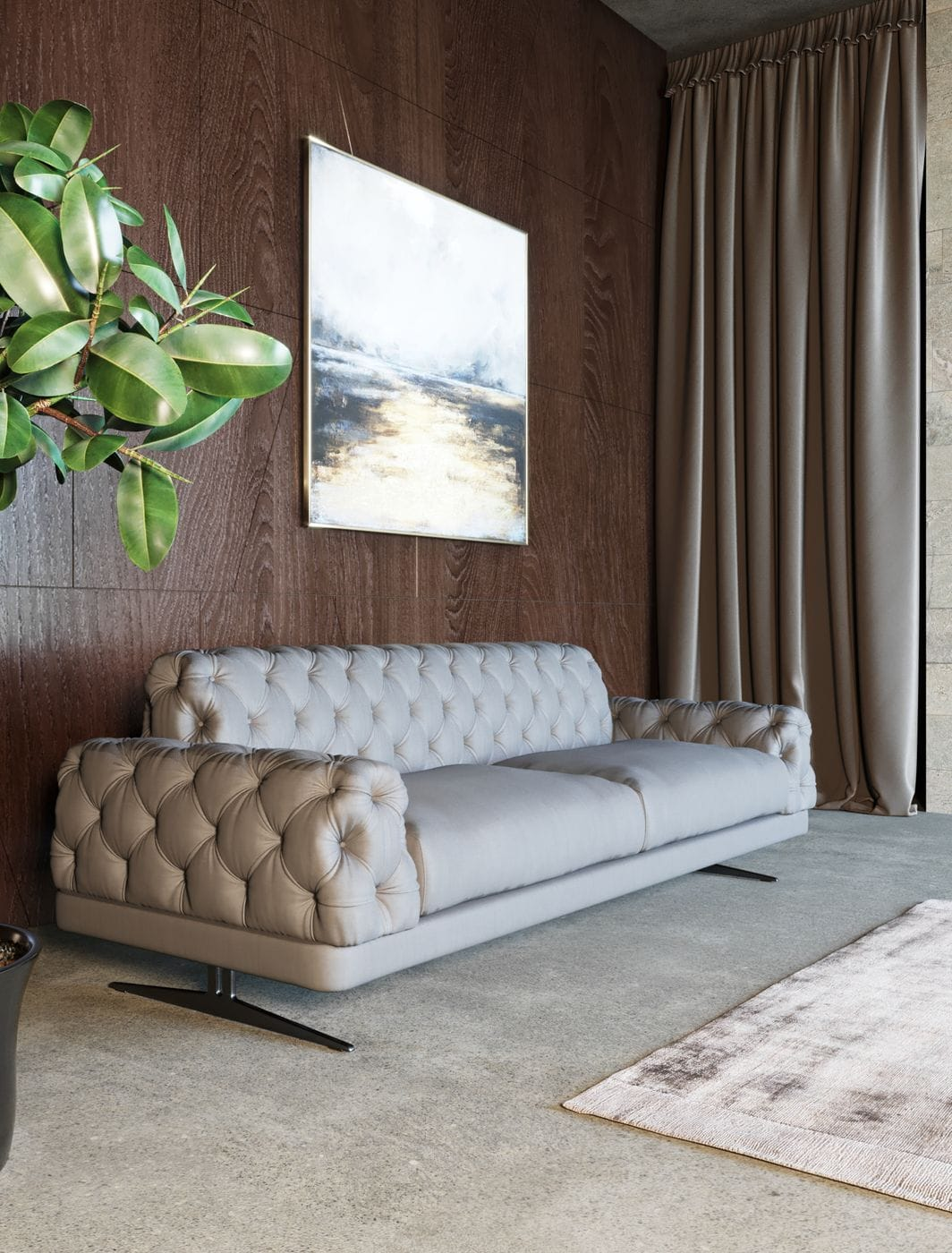 VIG Furniture Divani Casa Sepulveda Modern Grey Fabric Sofa