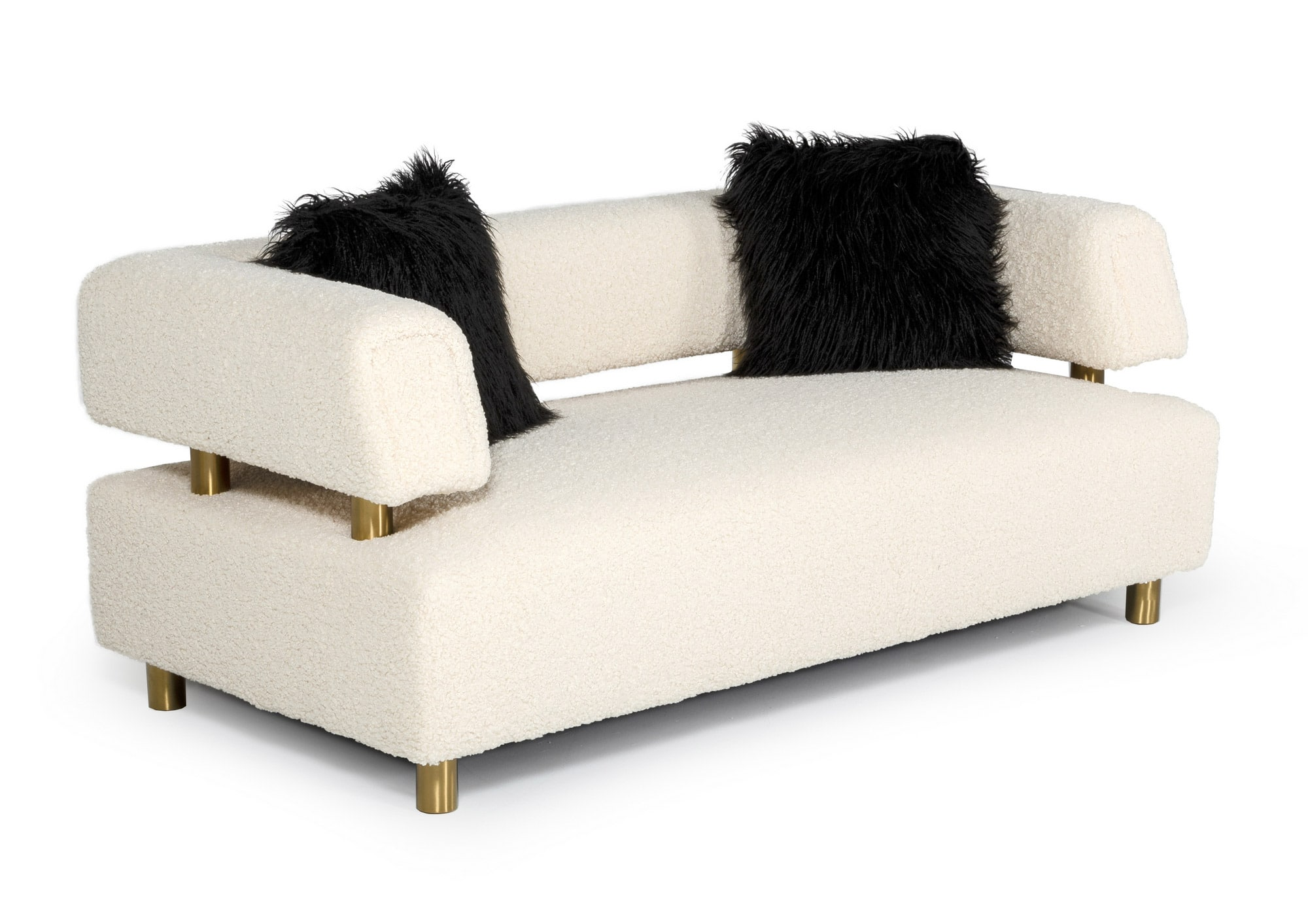 VIG Furniture Divani Casa Gannet Glam Beige Fabric Loveseat