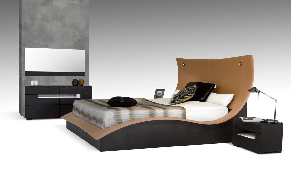 VIG Furniture Modrest Hercules Modern Bed with Lights