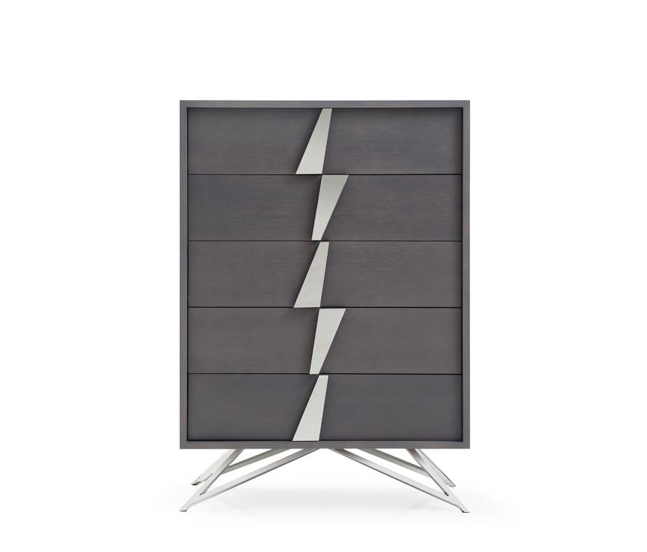 VIG Furniture Modrest Nicola Modern Grey Oak Chest