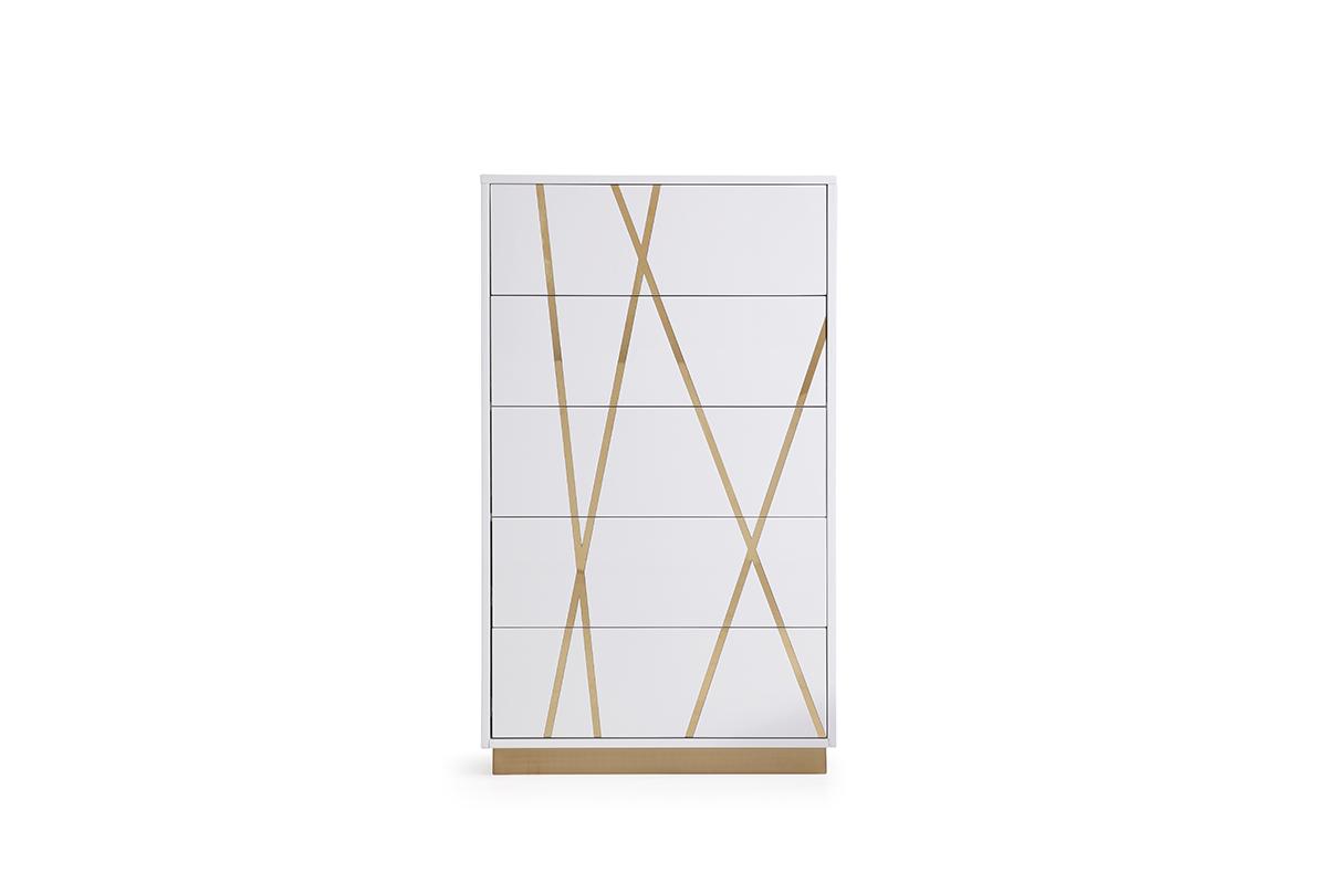 VIG Furniture Modrest Nixa Modern White and Gold Chest
