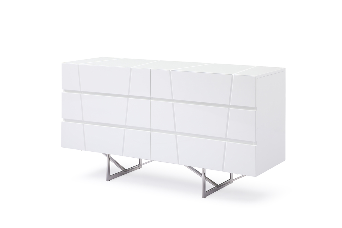 VIG Furniture Modrest Chrysler Modern White Dresser