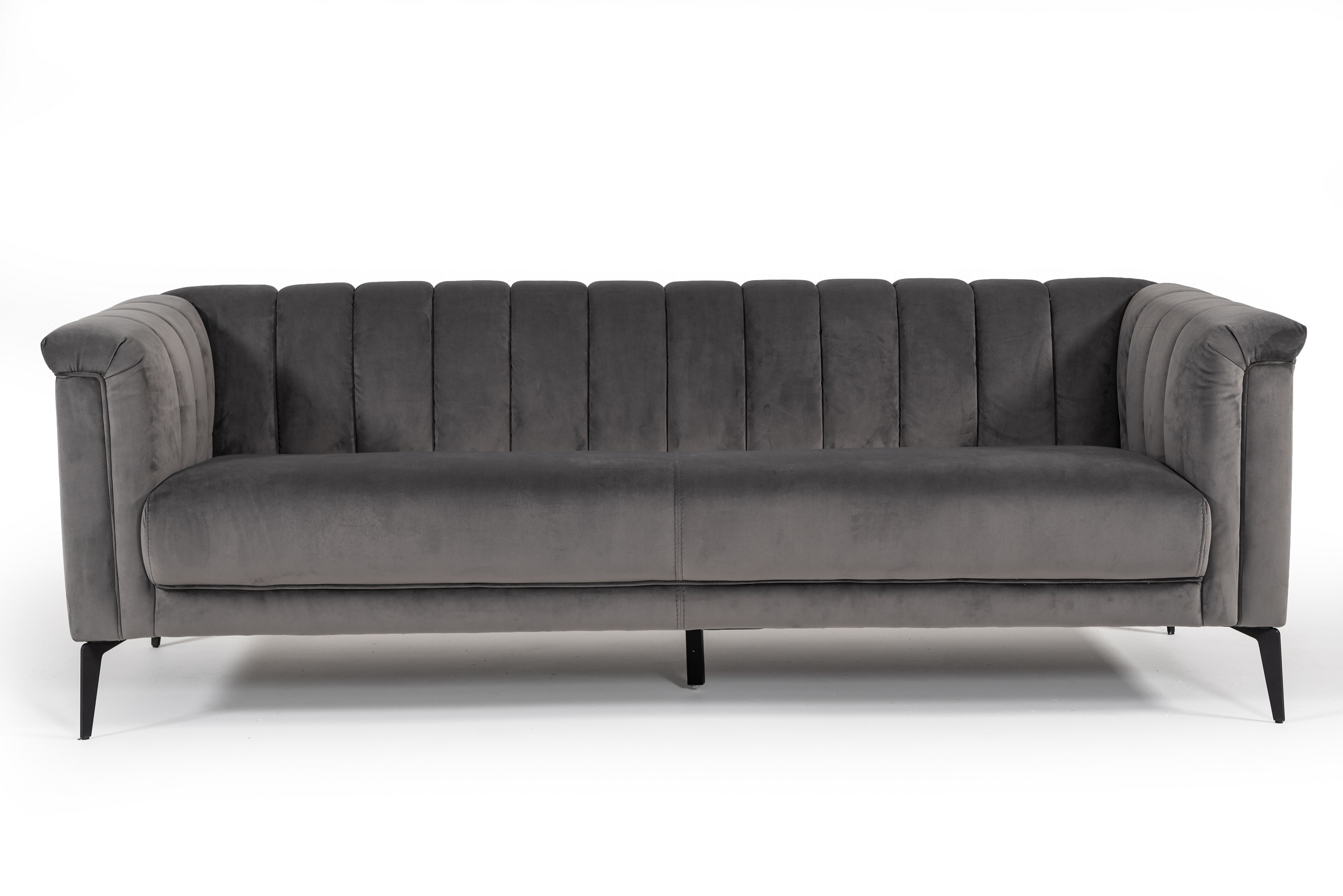VIG Furniture Divani Casa Jeremy Modern Grey Velvet Sofa