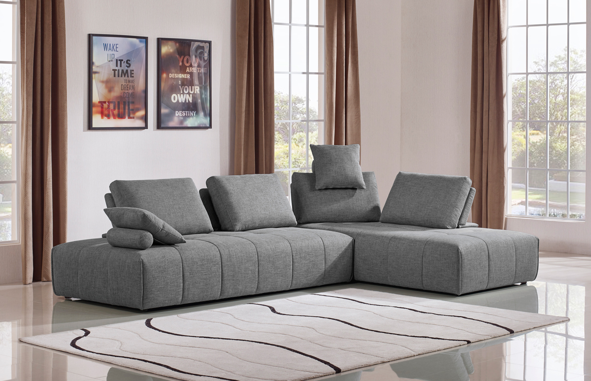VIG Furniture Divani Casa Edgar Modern Grey Fabric Modular Sectional Sofa