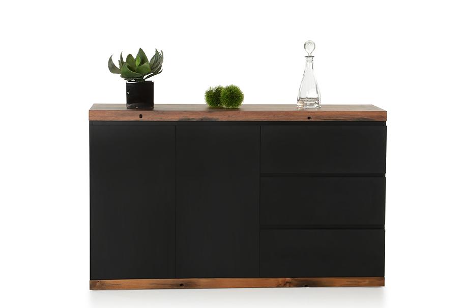 VIG Furniture Modrest Norse Modern Black and Ship Wood Buffet