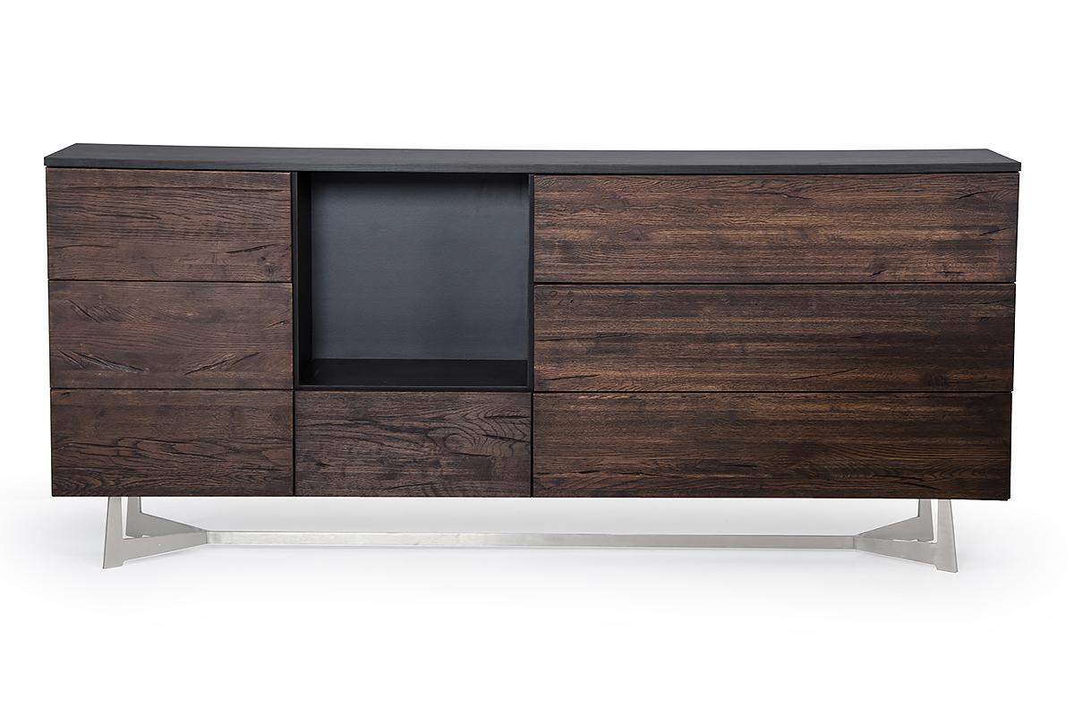 VIG Furniture Modrest Wharton Modern Dark Aged Oak Buffet