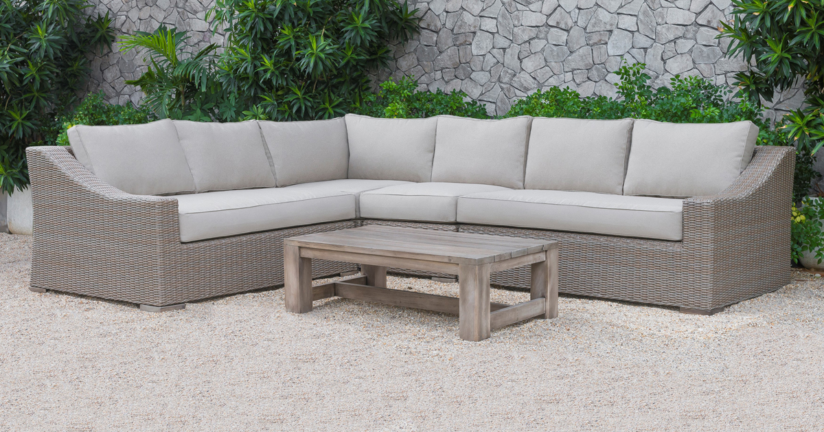 VIG Furniture Renava Pacifica Outdoor Beige Sectional Sofa Set