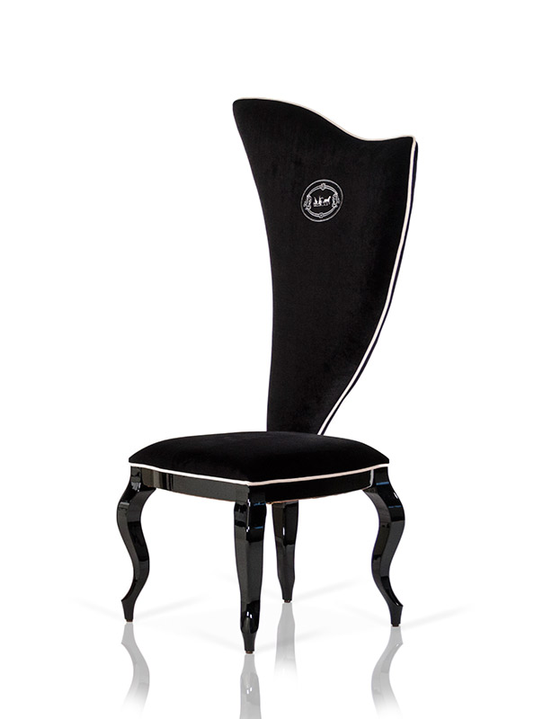 VIG Furniture A&X Sovereign Transitional Black Fabric Chair set of 2