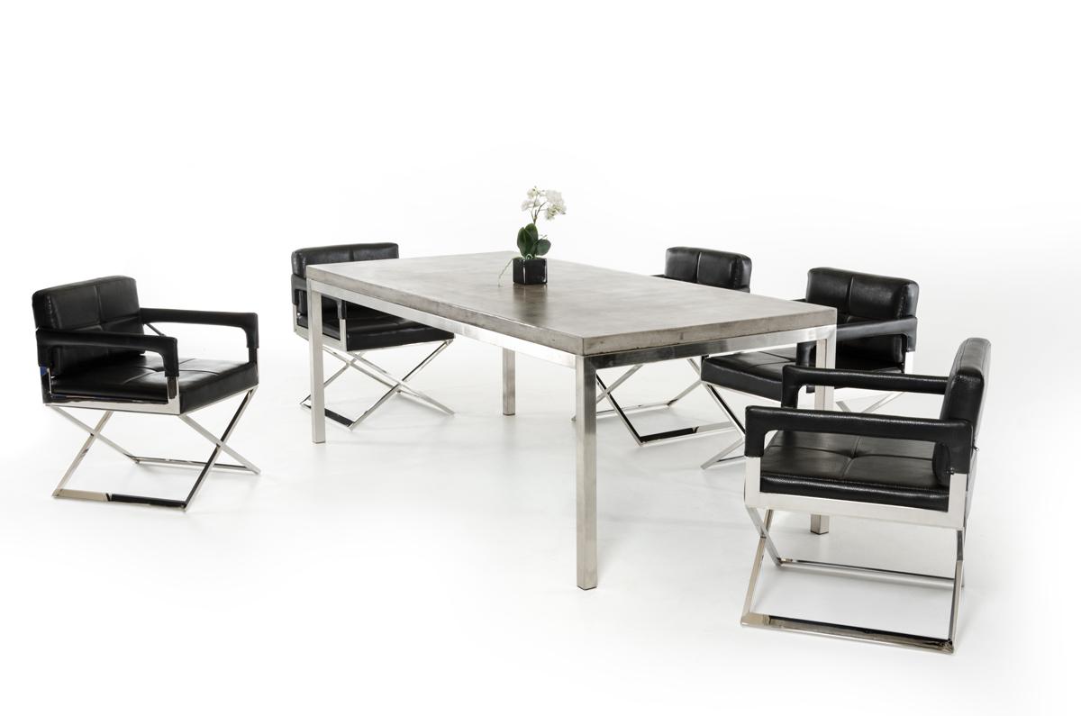 VIG Furniture Modrest Retna Modern Concrete Dining Table