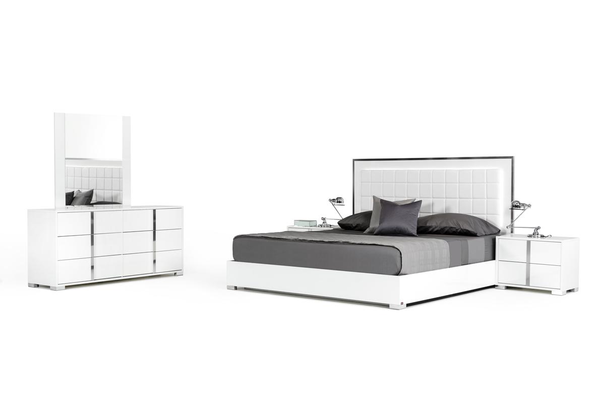 VIG Furniture Modrest San Marino Modern White Bedroom Set