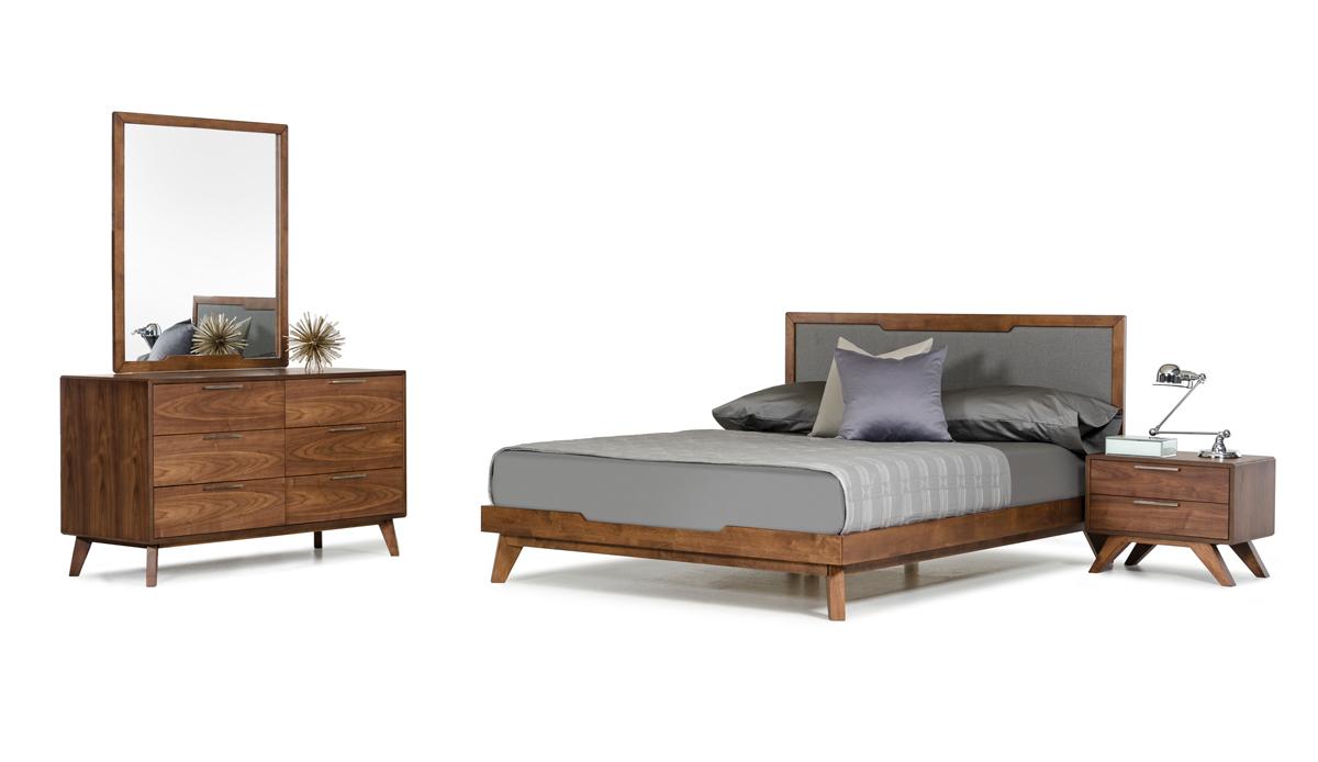 VIG Furniture Nova Domus Soria Modern Grey and Walnut Bedroom Set