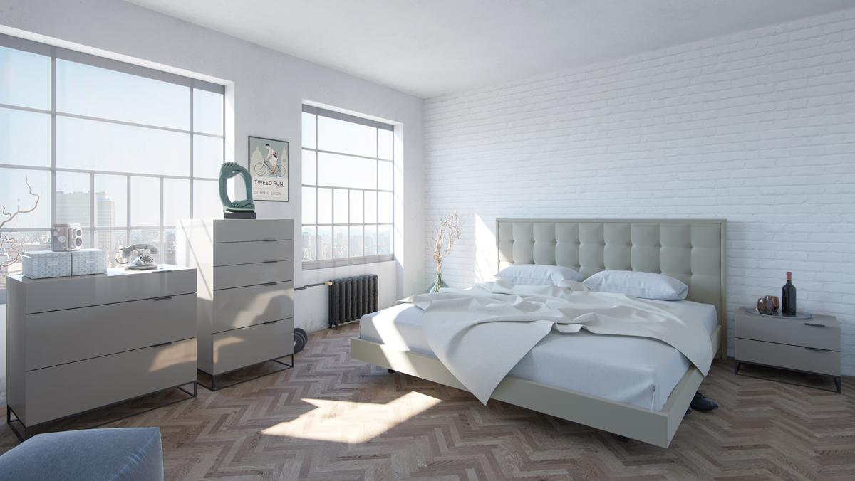 VIG Furniture Modrest Hera Modern Grey Bedroom Set