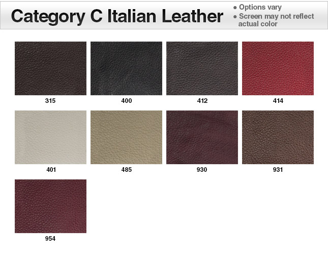 Category C Italian Leather Swatches