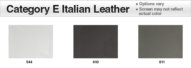 Category E Italian Leather Swatches
