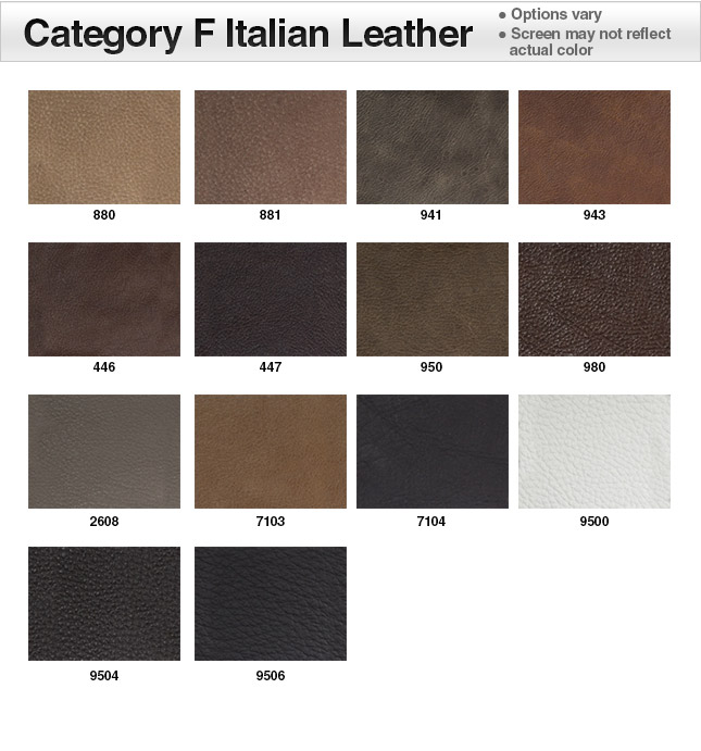 Category F Italian Leather Swatches